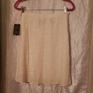 Polo by Ralph Lauren Skirts - Cream silk embroidered skirt